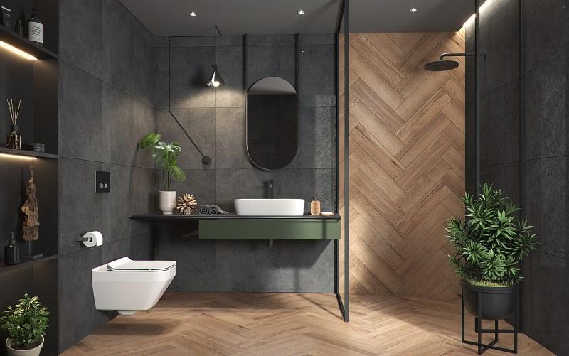 łazienka i płytki inspirowane naturą